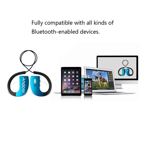 Подержанный Портативный шейный ремешок Стиль In-ear Водонепроницаемые Водонепроницаемые Беспроводные Спорт на открытом воздухе Стерео Bluetooth 4.0 + EDR Музыкальные наушники Наушники Гарнитура с микрофоном для iPhone 6 Plus 6 5S LG Samsung S5 S4 HTC Tablet PC фото