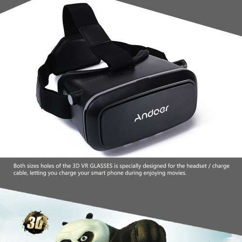 Andoer CST-09 Version 3D VR Glasses Virtual Reality DIY 3D VR Video Movie Game Glasses Head Mount with Headband for iPhone Samsung