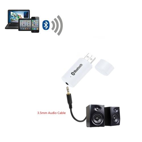 Мини Портативный USB 3.5mm Аудио Беспроводные BT Музыкальный Аудио Приемник Адаптер Система Автомобильного Стерео и Домашнего Кинотеатра