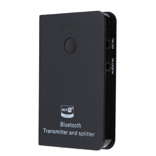 Передатчик беспроводной BT A2DP APTX и поддержкой стерео 1 до 2 сплиттер подключить два устройства для использования ТВ/DVD/MP3/MP4