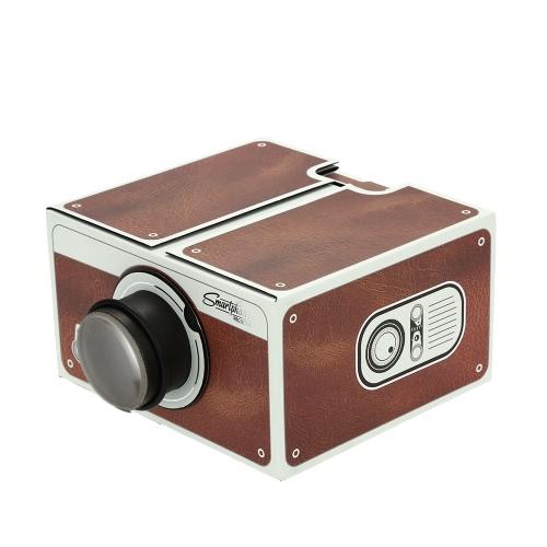 Portable Cardboard Smartphone Projector V2.0 / DIY Mobile Phone Projector Portable Cinema for Smart Phone