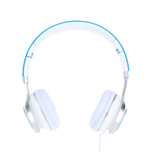 Foldable Over Ear 3.5mm Aux Earphone Headphones Stereo Bass Music Headset Wired for iPhone Samsung MP3/4 PC Laptop Computer Tablet Notebook