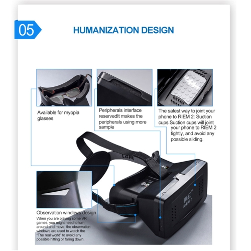 "Best-selling Private 3D VR Glasses Virtual Reality DIY 3D Video VR Glasses with Magnetic Switch Hand Belt for All 3.5 ~ 6.0"" Smart"