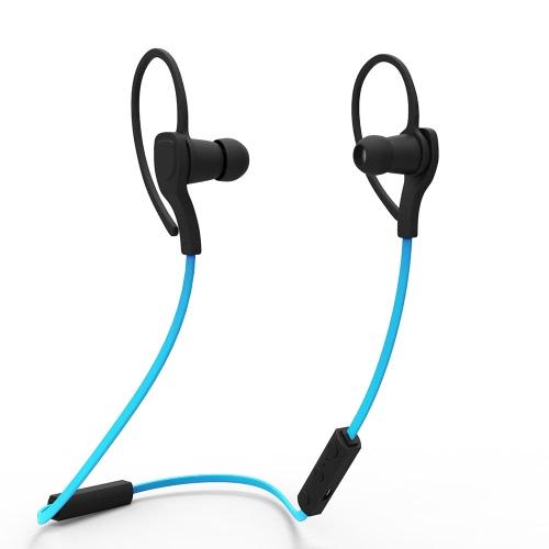 Bluetooth 4.0 + EDR Headset Wireless Neck-strap Sweat-proof Earphone -Blue