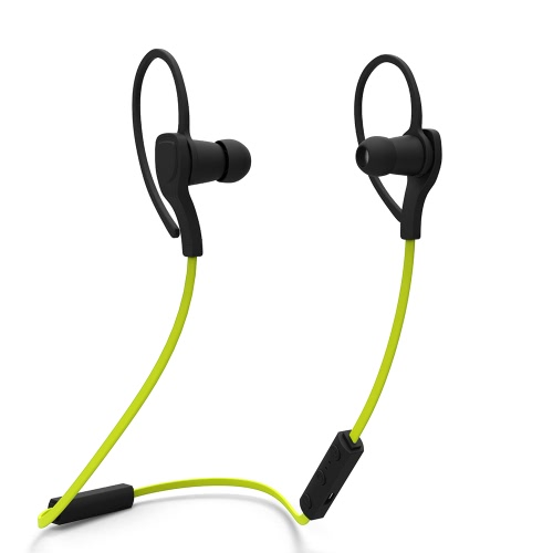 Bluetooth 4.0 + EDR Headset Wireless Neck-strap Sweat-proof Earphone -Green