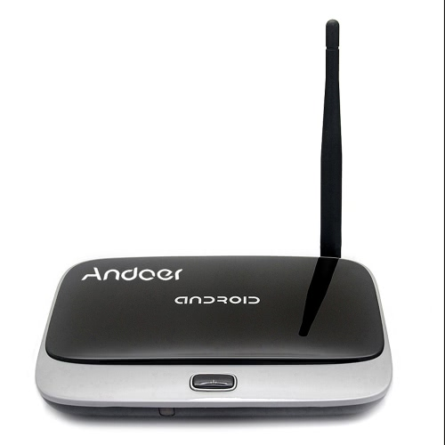 Andoer CS918 1080p inteligente Android 4.4 TV caixa Rockchip RK3188T Quad-Core Cortex A9 1,4 GHz 1,4 GHz 2G / 32G HD Mini PC h. 264 Kodi / DLNA XBMC Miracast Airplay OTG WiFi BT 4.0 inteligente leitor multimédia TF / MicroSD Card Slot antena externa com controle remoto