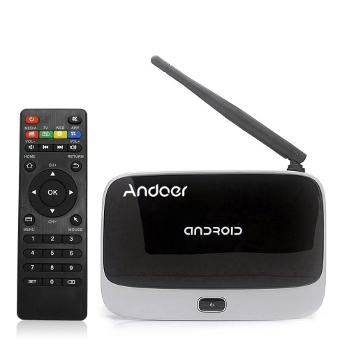 Kodi Andoer CS918 Android 4.4 TV Box Rockchip RK3188T Quad Core Cortex A9  WiFi OTG Bluetooth 4.0 -2G / 32G US Plug