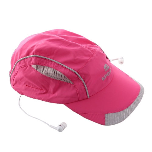 Stylish Bluetooth Music Sun Hat Headphone Popular Bluetooth 4.0 + EDR Stereo Music Hat Earphone Topee Sport Peaked Cap & Bluetooth Headset 2-in-1 Supports Hands-free Talking for Smart Phones Tablet PC
