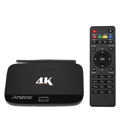 Andoer F7 Android 5.1 TV Box RK3229Quad-Core  UHD 4K  Kodi / XBMC / Miracast / DLNA H.265 1G / 8G EU Plug