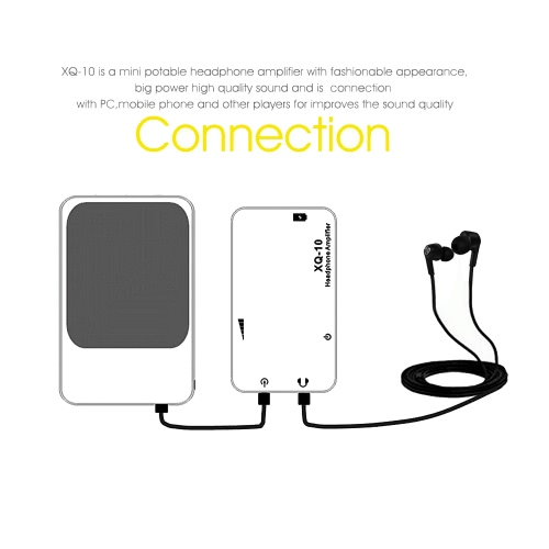 docooler XDuoo Headphone Amplifier Mini Portable  High Quality Sound  Amplifier Sound Quality Improver Connected with PC All Mobile Phones For iPhone6 6Plus Samsung S6 S5 Note 4 3 HTC LG Notebook Tablet PC  Rail-Rail Amplifier Chip