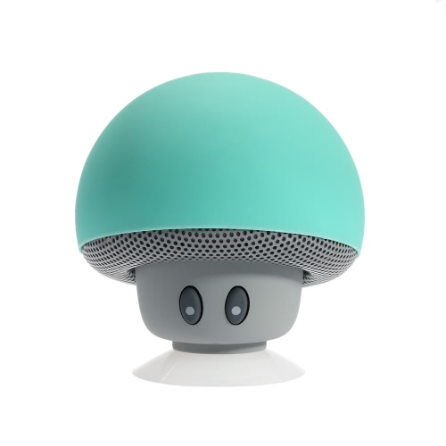 Bluetooth Stereo Speaker Wireless Bluetooth Mushroom Loudspeaker with Mic Sucker Design  Stand Speaker Green Indoor & Car Use for iPhone 6S 6S Plus 6 5S Samsung S6 S5 Note 5 4 Laptop Tablet PC