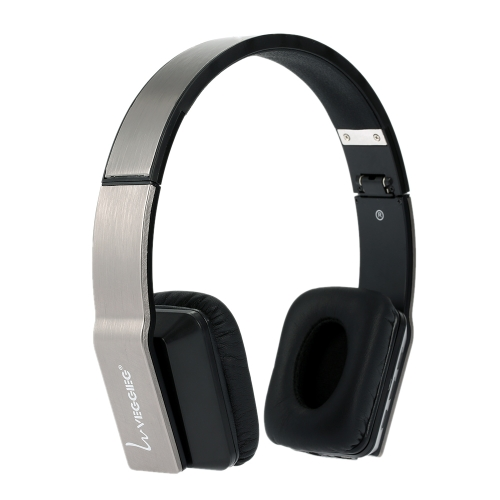 Foldable VEGGIEG V8200  Stereo  Wireless Bluetooth  Headset BluetoothV4.0 + EDR Headphone with Mic Noise-Cancelling Earphone Gray for iPhone 6S  6 6 Plus Samsung S6 S5 Note 4 HTC Laptop PC Notebook