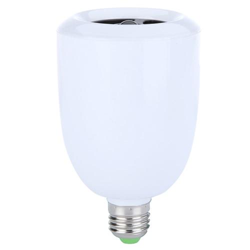 Wireless LED Lamp Bluetooth Audio Speaker E27 Music Playing & Lighting Remote Control Adjustable Brightness Volume Warm White