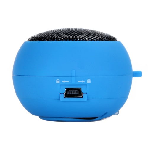 Mini Hamburger haut-parleur pour iPhone iPad iPod ordinateur portable PC MP3 Audio amplificateur bleu