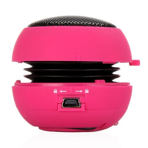 Mini Hamburger Speaker for iPhone iPad iPod Laptop PC MP3 Audio Amplifier Rose