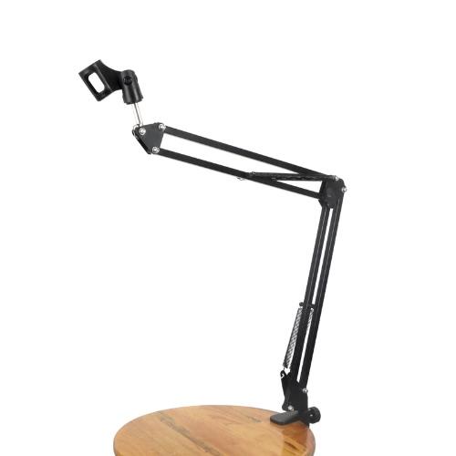 Professional Adjustable Metal Suspension Scissor Arm Stand Holder for Handheld Microphone Mic