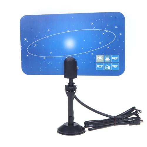 Numérique TV Intérieure HDTV Antenne DTV HD VHF UHF Plat Design Gain EU plug