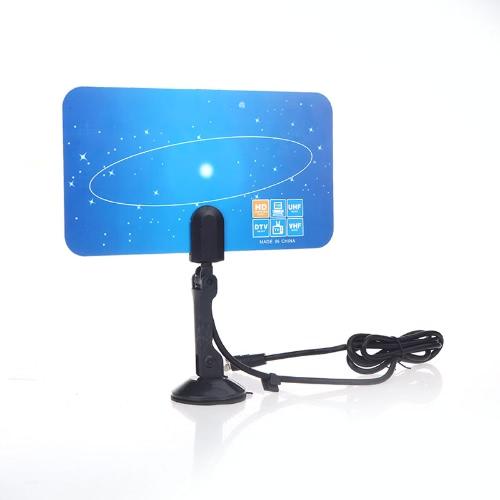 Antena de TV digital interna HDTV DTV HD VHF UHF Flat Design alto ganho U.S. Plug