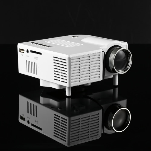HD Portable Mini LED Projector Home Cinema Theater AV VGA USB SD White