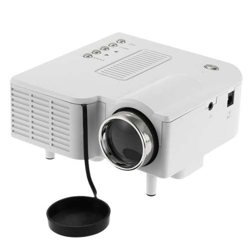 HD Portable Mini LED Projector Branco