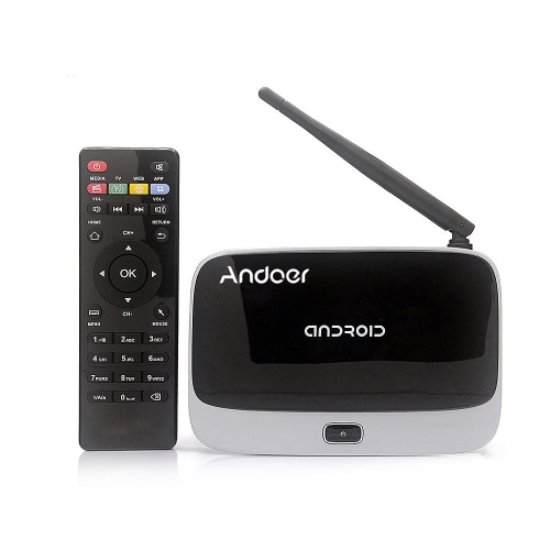 CS918 Android 4.4 TV Box Player TV Dongle RK3188T Quad Core 2GB / 8GB WiFi 1080P con telecomando spina di UE