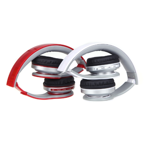 Foldable Wireless Bluetooth Stereo Headphone Headset Mic FM TF Slot for iPhone iPad PC White
