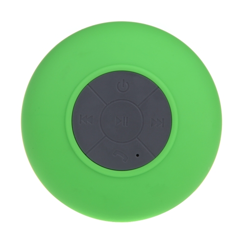Mini HIFI Wireless Bluetooth 3.0 Handsfree Mic Suction Speaker Shower Car Water Resistant for iPhone iPad Green