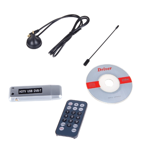Digital Freeview USB 2.0 DVB-T HDTV TV Dongle Tuner Recorder Receiver Laptop PC