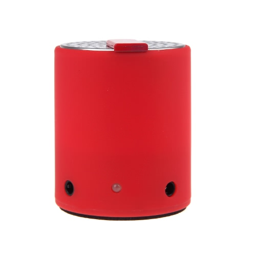 Mini Portable Loudspeaker Rechargeable Wireless Bluetooth Music Player Audio Amplifier Red