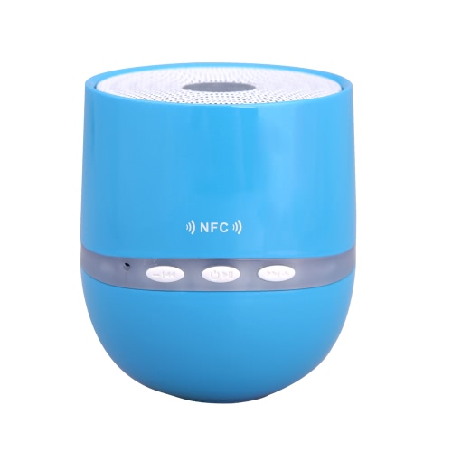 Wireless BT Mini Speaker Support NFC with Mic TF Card Slot 3.5mm Jack Aux Portable for iPhone iPod Samsung PC MP3 Blue