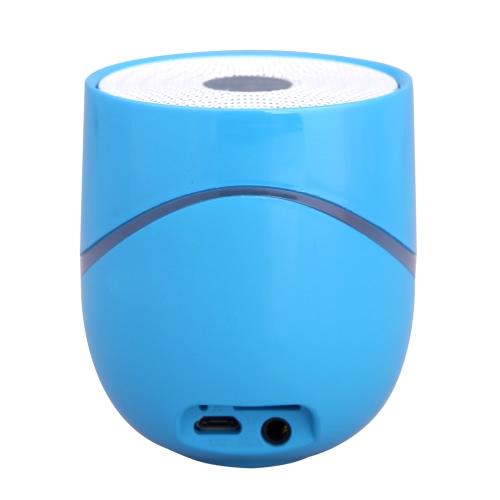 Sem fio BT Mini alto-falante suporte NFC com Slot para cartão TF Mic 3.5mm Jack Aux portátil para iPod iPhone Samsung PC MP3 azul