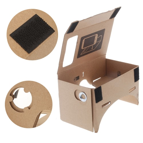 DIY-Google Pappe Virtual Reality VR Handy 3D Viewing Brillen
