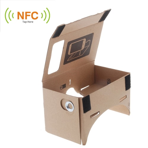 "DIY Google Cardboard Virtual reality VR Mobile Phone 3D Glasses for 5.5"" Screen"