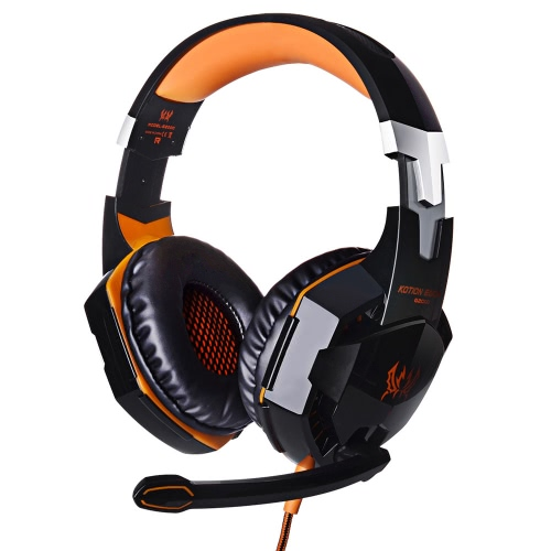 EACH G2000 Over-ear Game Gaming Headphone Headset Fone de ouvido Headband com Mic Stereo Bass LED Light para PC Game