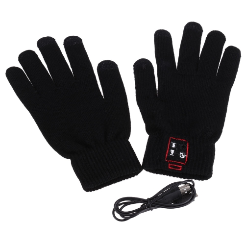 BT 3.0 Winter Calling Talking Gloves Hand Gesture Touch Screen with Speaker Microphone for iOS iPhone Android Unisex Men Women Gift