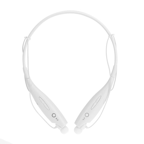 HBS-730 Wireless Bluetooth Stereo Headphone Neck Strap Earphone Hands-free Headset with Mic White for Android / iOS / Windows Phone Tablet PC Laptop Other Bluetooth-enable Devices