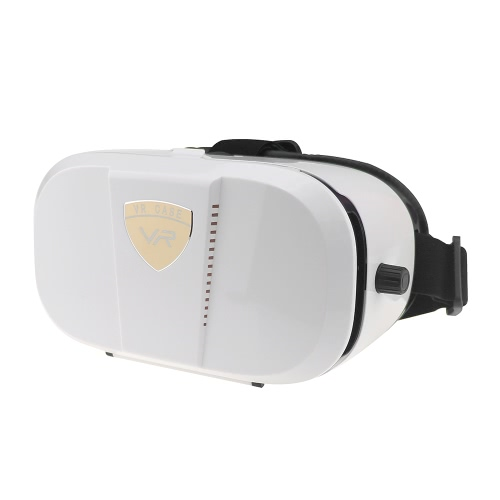 VR World Virtual Reality Óculos 3D VR Headset Filme 3D VR Jogos Head-mounted Display Use Universal White para Android iOS Smart Phones dentro de 4,0 a 6,0 polegadas