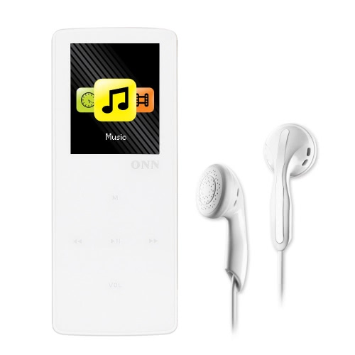 ONN W6 8GB MP3 Player Bluetooth Lossless Music Player Support Sport Pedometer FM Radio TF Card Music Play 1.8 Inches Screen White