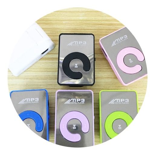 Mini Mirror Clip MP3 Player Portable Fashion Sport USB Digital Music Player Micro SD TF Card Media Player