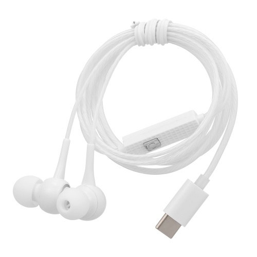 USB Type-C Wired Headphones In Ear Music Earphone Headset Smart Phone Earbuds In-line Control with Mic for Xiaomi 6 Note 3 MIX 2 Letv LeEco Le 2 3 Smartisan Pro Pro 2