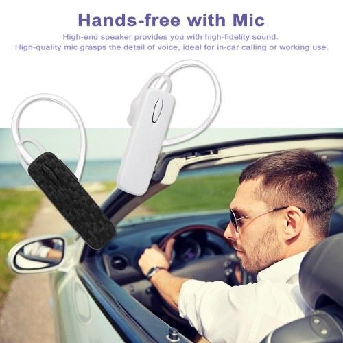 AL7 Wireless Bluetooth Headphone Single-ear Business Headset Ear Hook with Mic Ear Hook