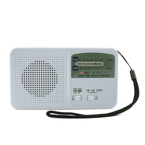 Solar Energy Radio Emergency Mobile Phone Power Bank FM AM Dual Band Radio w/ LED Flashlight Siren Alert for Outdoor Radio Phone Charger Flashlight Hand Crank Solar Powered Speaker RD369