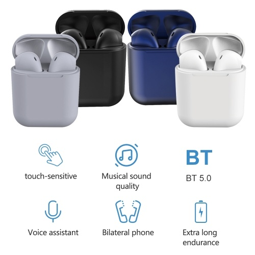 Inpods 12 TWS Stereo Wireless Headphones HD Mini Smart Bluetooth 5.0+EDR In-Ear Headset