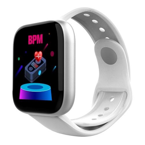 Fitness Tracker mit 1,3 '' Touchscreen Schritt Kalorienzähler Aktivität Tracker Uhr unterstützt Herzfrequenz-Blutdruckmessgerät Smart Bracelet Wrist Band Smart Watch