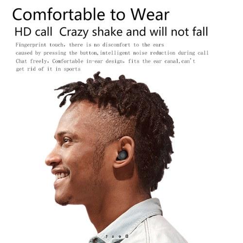 True Wireless Bluetooth 5.0 Наушники с мини-фонариком для вентилятора TWS Наушники-вкладыши с чехлом для зарядки Многофункциональные наушники BT для спортивного тренировочного зала фото