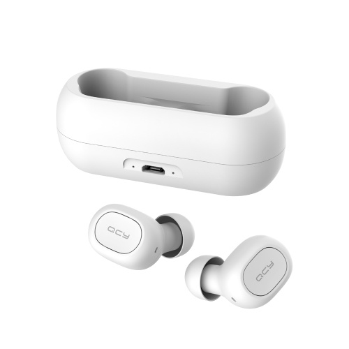 QCY T1C Bluetooth 5.0 TWS Earbuds True Wireless Headphones with Dual Mic Popovers Fast Pairing In-ear Earphones Twins Sports Headset Charging Box
