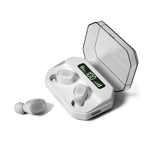 Наушники Bluetooth 5.0 TWS Настоящие беспроводные наушники с шумоподавлением Сенсорное управление IPX7 Водонепроницаемые невидимые наушники Спортивная гарнитура со светодиодным цифровым дисплеем Зарядный чехол