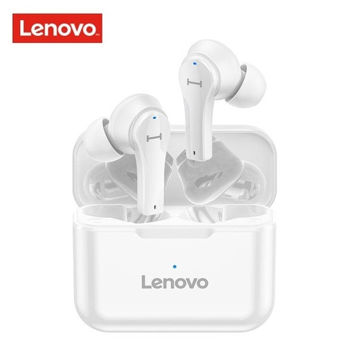 Lenovo QT82 Echte kabellose Kopfhörer Bluetooth 5.0 TWS Ohrhörer Touch Control Sport Headset IPX5 Schweißfeste In-Ear-Musikkopfhörer mit Mikrofon 400mAh Ladekoffer