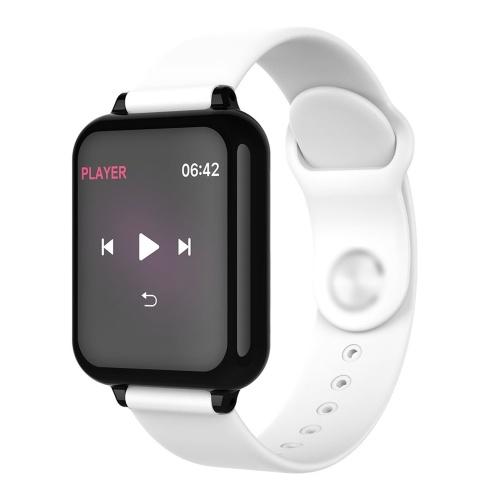 B57 Интеллектуальный спортивный фитнес-трекер 1,3-дюймовый цветной экран IP67 Водонепроницаемые часы с монитором сердечного ритма и кровяным давлением