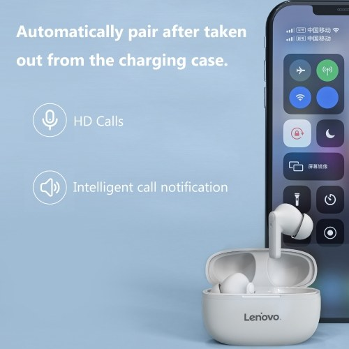 Lenovo HT05 TWS Kopfhörer Wireless Bluetooth 5.0 Kopfhörer HiFi Sound Eingebaute Mikrofon Ohrhörer Sport Headsets
